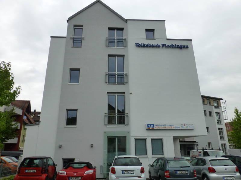 Fassadengestaltung Volksbank Plochingen August 2013